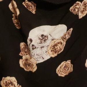 torrid Tops - Torrid tank top with skulls and roses